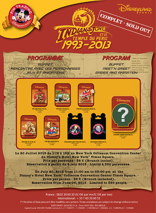 Indiana Jones event pins