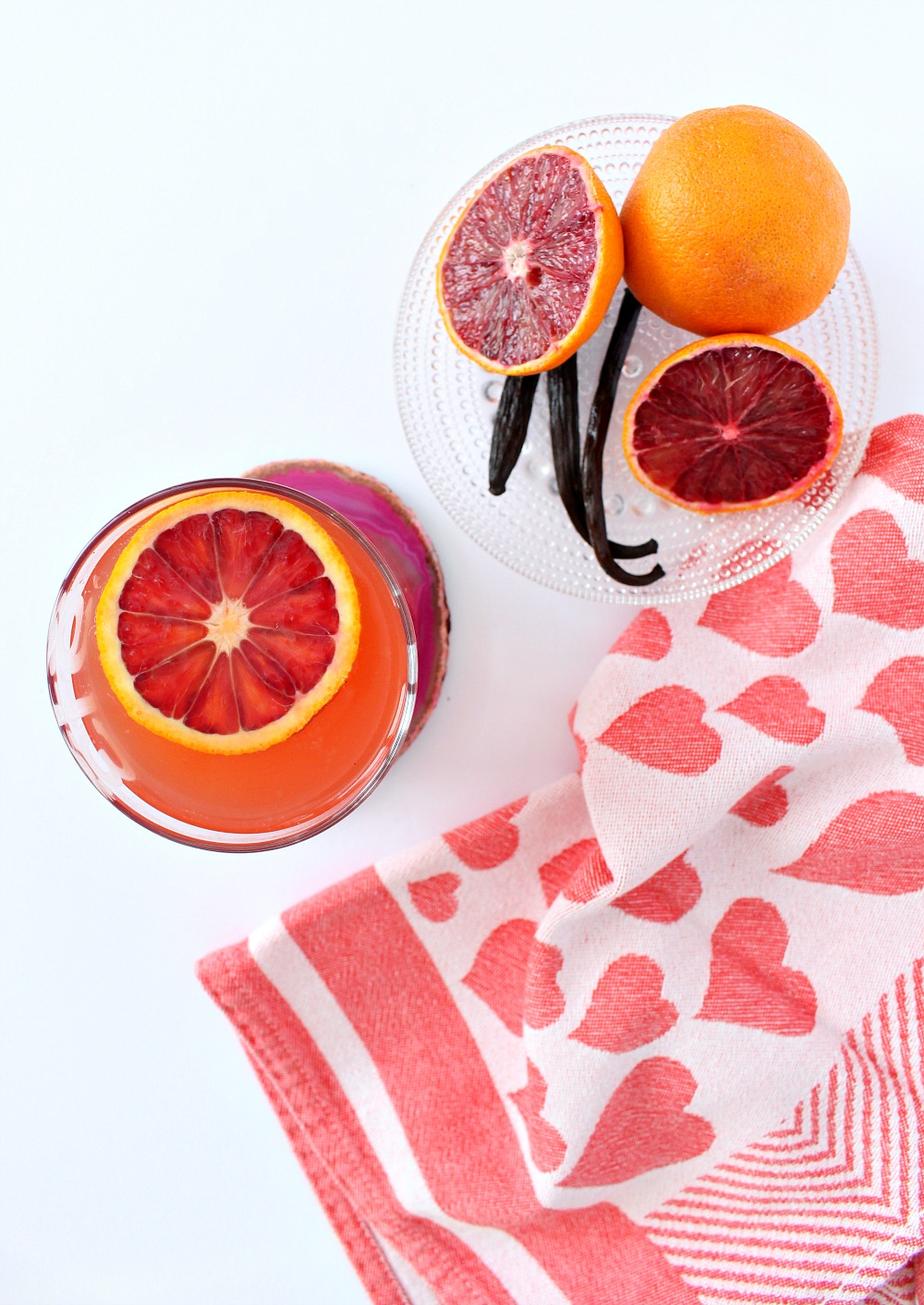 Blood Orange and Vanilla Cocktail