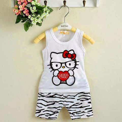 Setelan Anak Hello Kitty Nerd - Baju Apinigo - Harga Saudara
