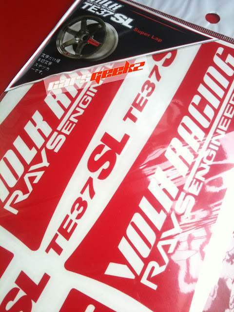 TE37 SL Sticker - Red Colour Sticker vinyl decal