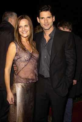 Eric Bana with wife