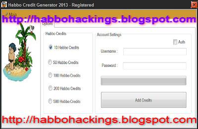 habbo credit code: