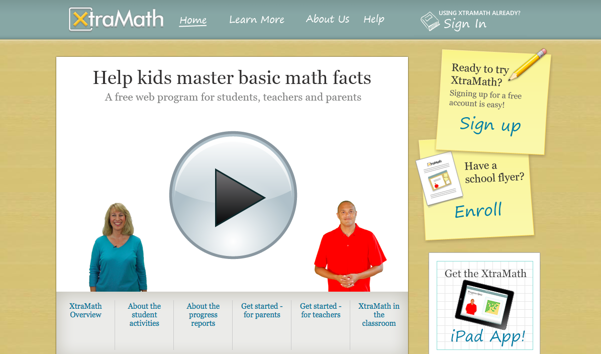 XtraMath, A Fact Fluency Site | Mrs. Jones Teaches