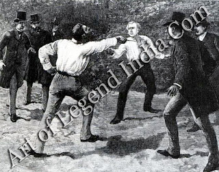 Boulanger's Duel In 1888, General Boulanger insulted Floquet, Prime Minister of France, who responded with a challenge. Boulanger had choice of weapons and chose swords. Being a soldier, 10 years younger than his opponent, it looked as though odds were on his side. But he was badly wounded in the throat: Floquet was the victor. The British presses were scathing about the duel, as duelling had been outlawed in England about 50 years beforehand.