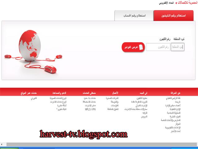 موقع المصرية للاتصالات