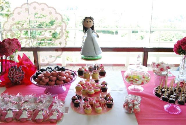 mesa dulce cupcakes comunión tarta A Coruña