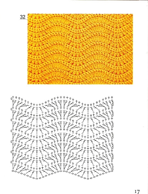 Узоры для вязания крючком зигзаг