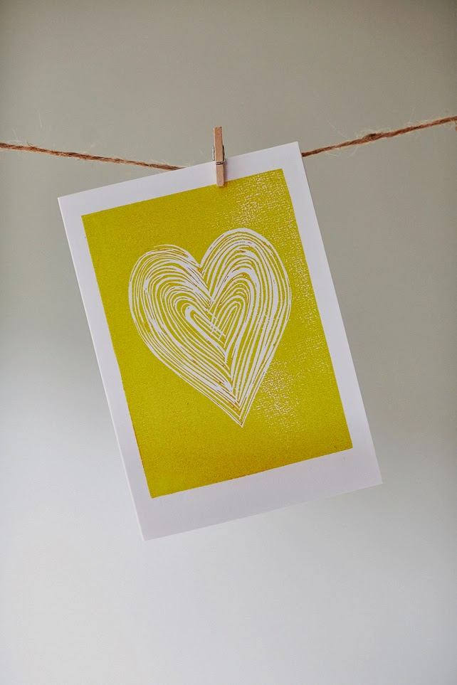 http://folksy.com/items/5412521-Yellow-Heart-card-from-original-linocut