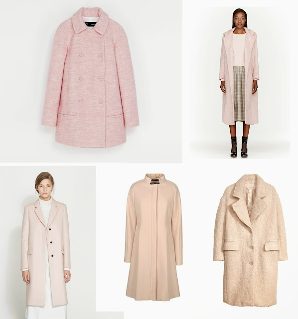 Collection of winter outfits from Zara's Store