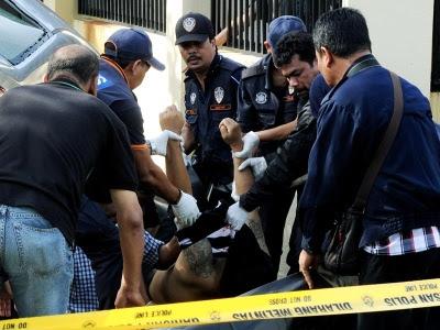 mayat penjenayah yang berjaya ditembak