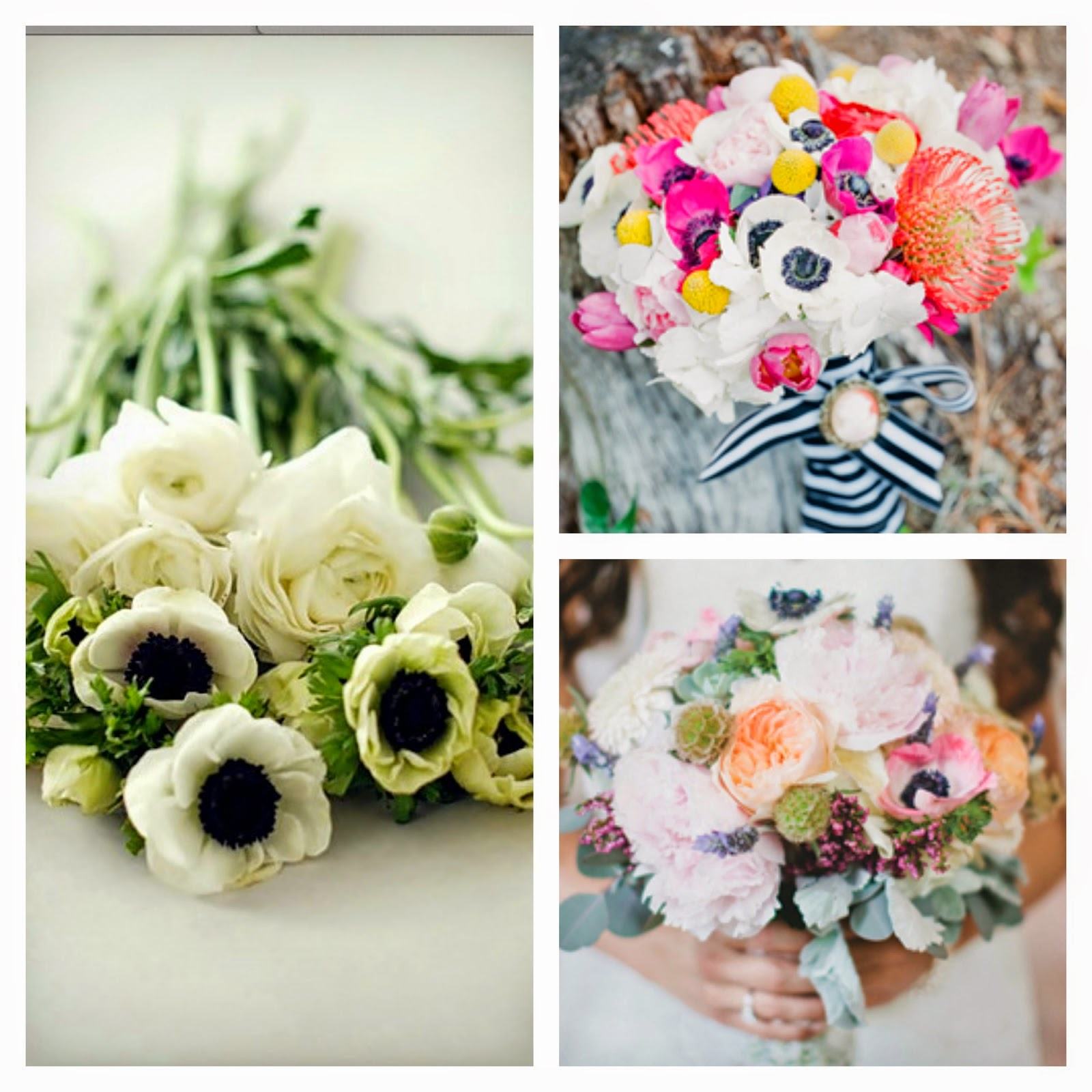 Wedding anemone flower fresh flowers anemone flowers table centre izmirmasajfo