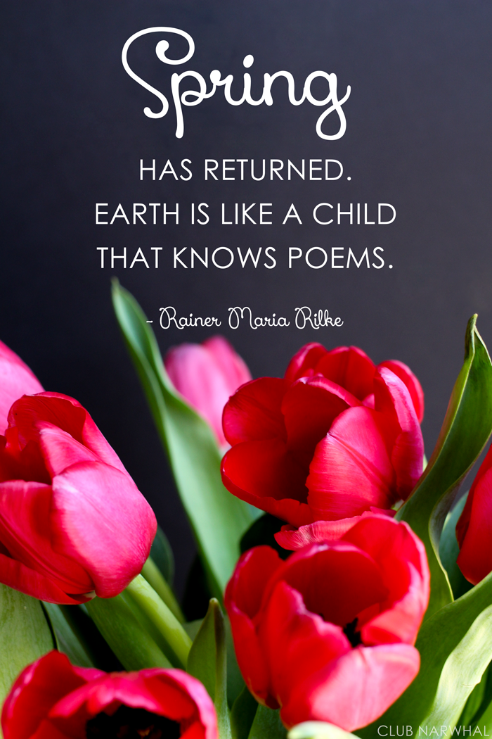Free Printable | Earth is Like A Child that Knows Poems via Club Narwhal
