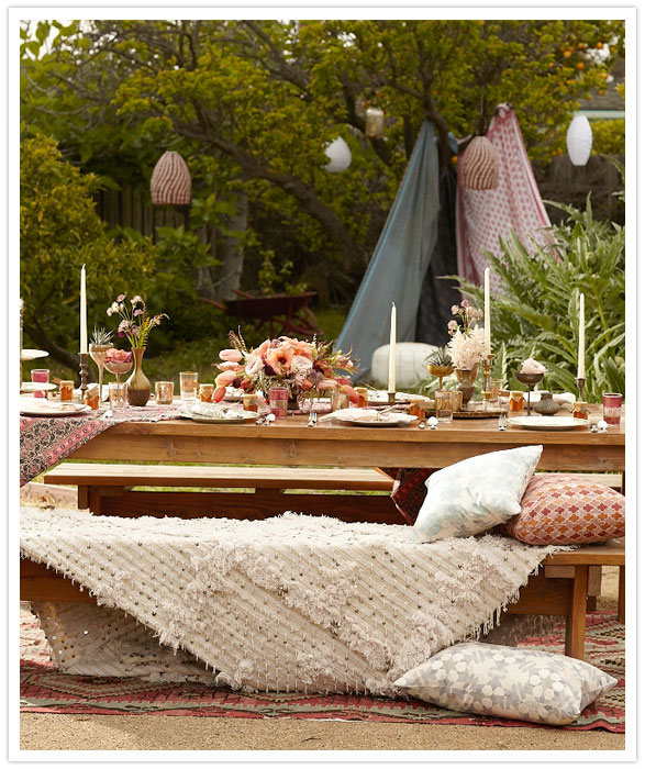 Juneberry Lane Tutorial Tuesday A Bohemian Backyard Bash & Feathery