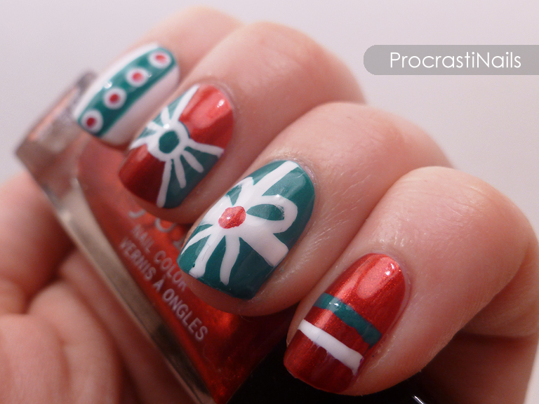 The 12 Days of Christmas Nail Art: Dec 1st - Presents for Everyone ...