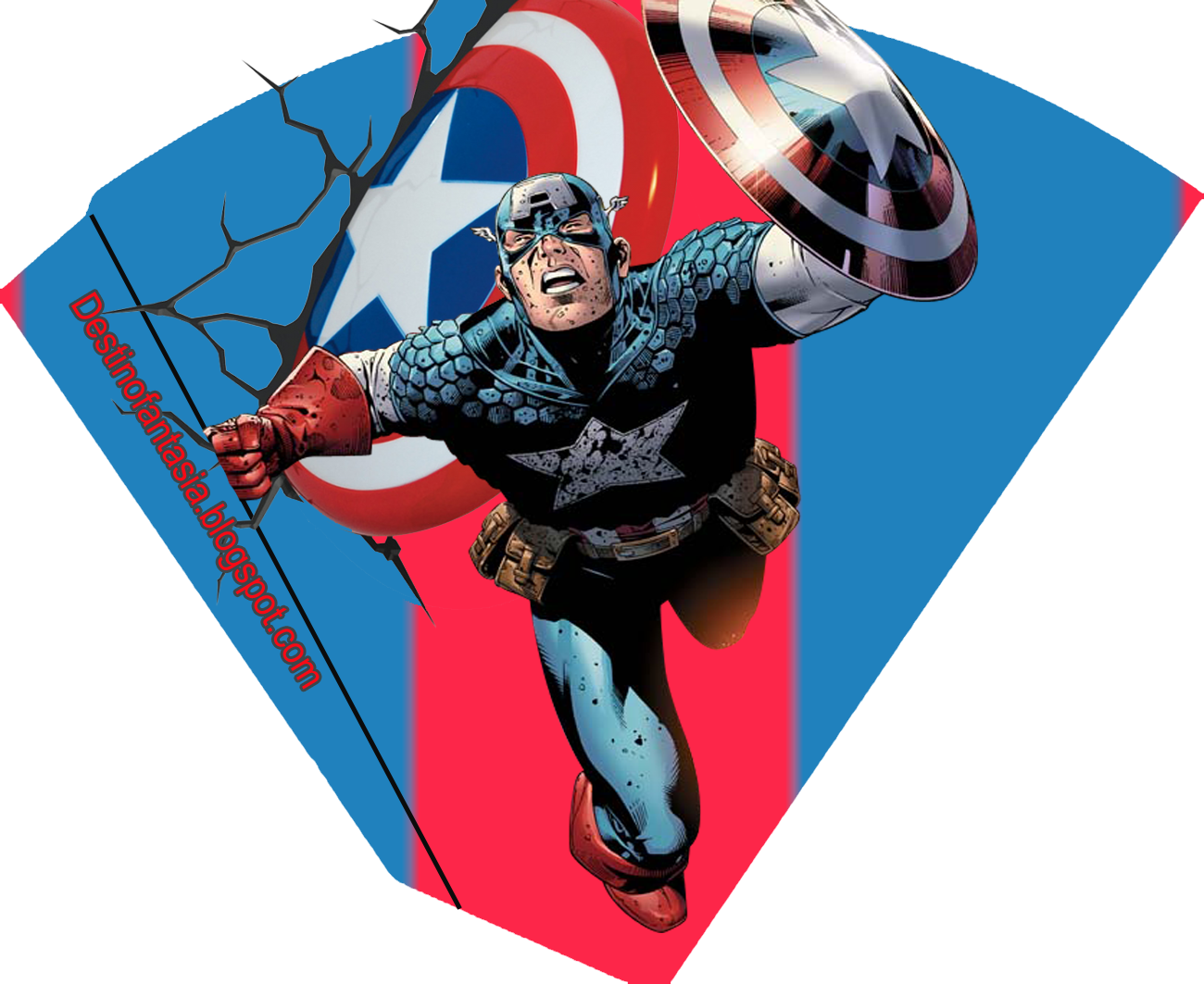 rótulos embalagens festa capitão america