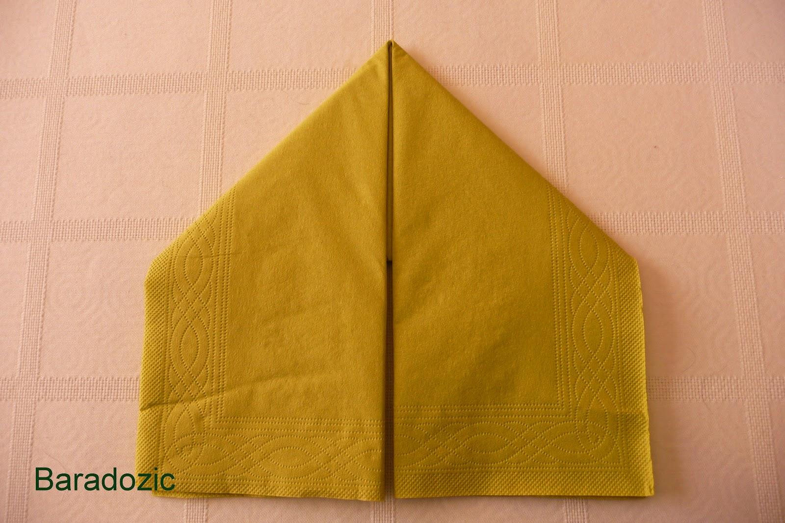 Plier une serviette en chausson de lutin les d lices de - Plier des serviettes ...