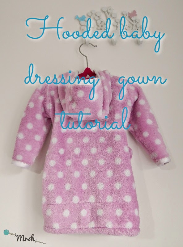 Blog - Hooded baby dressing gown tutorial {Free tutorial 0 - 6m)