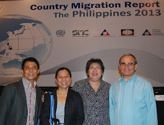 (R-L) Fr. Graziano Battistella, Ms. Mel Nuqui, Ms.Maruja  Asis, and  Mr.Ricardo Casco pose for a souvenir photo.