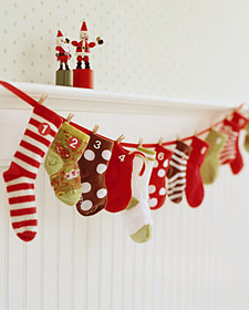 baby socks advent calendar tutorial