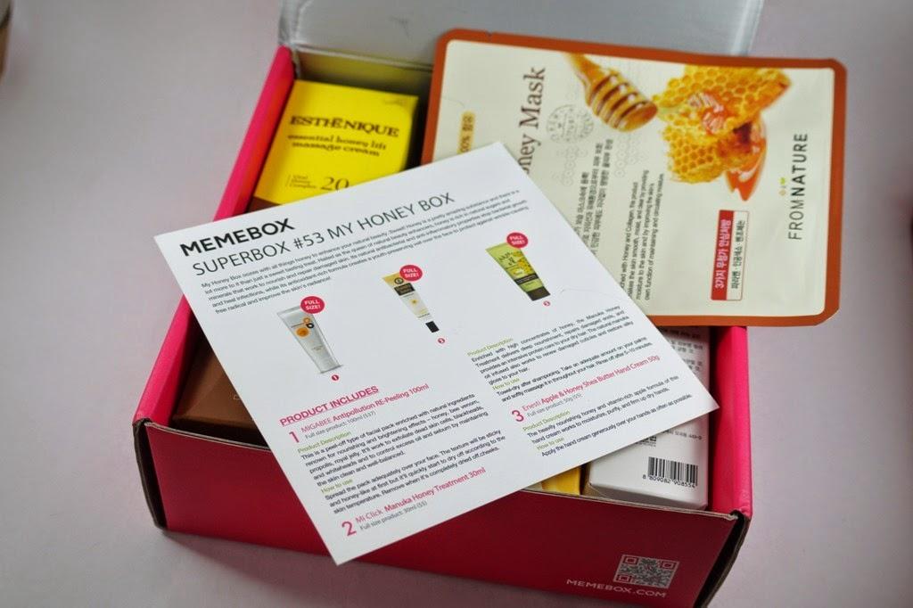 Memebox #53 Superbox My Honey Box-Unboxing,Mini Reviews