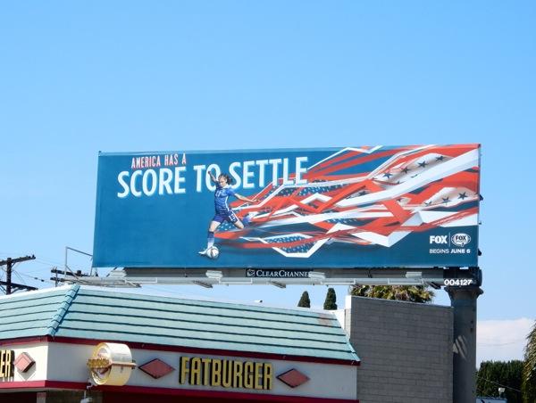 America has a score to settle soccer billboard
