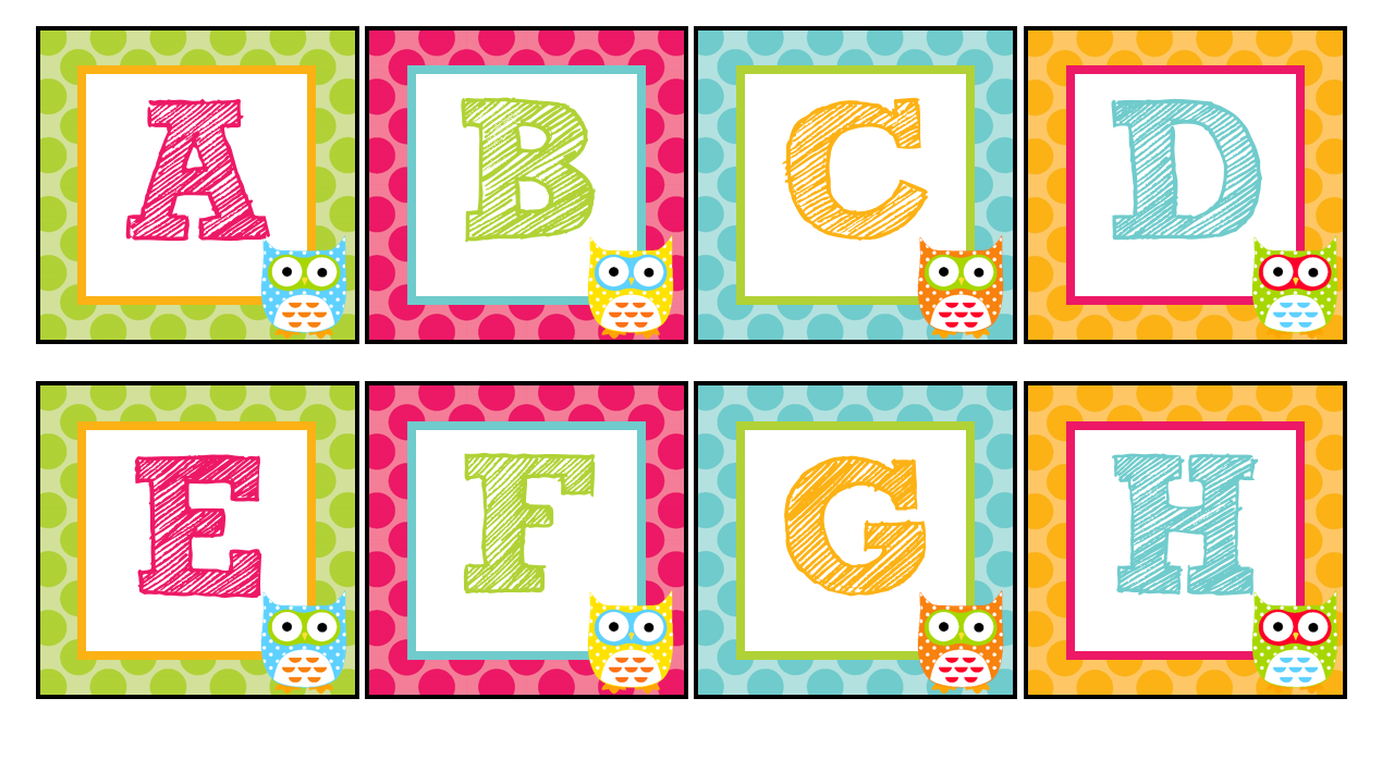 Word Wall Letters Magnificent The Teaching Sweet Shoppe Owl Alphabet For Your Word Wall Inspiration