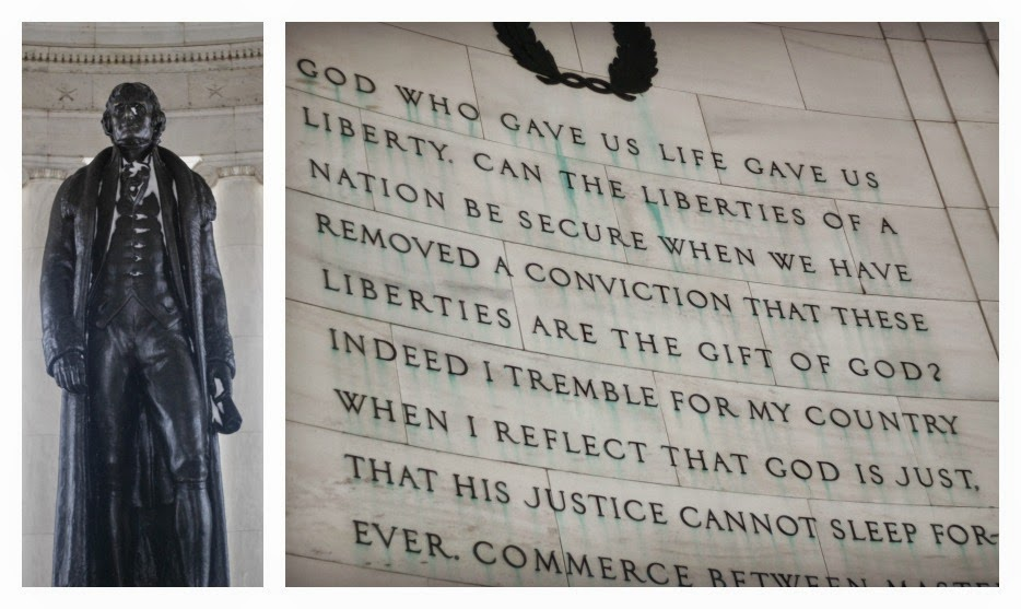 Jefferson Monument and Quote