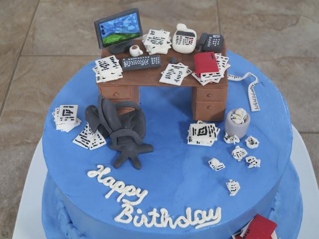 Christina S Kitchen Art Messy Office Birthday Cake