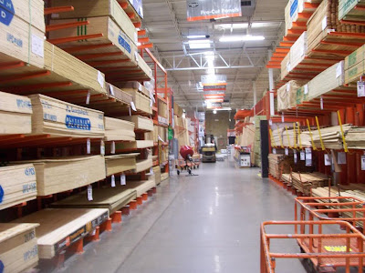 lumber at home depot