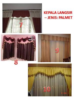 MKINA FASHIONS : CONTOH-CONTOH KEPALA LANGSIR - JENIS PALMET
