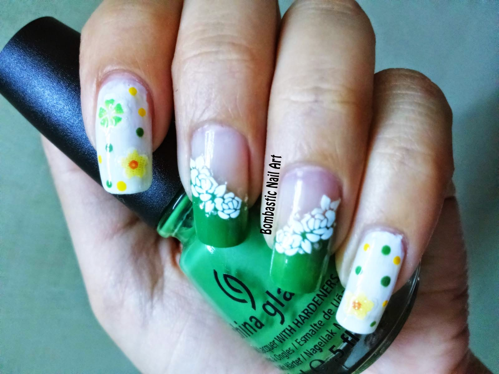 Day 29: 3D Flower Decals Nail Art – Bombastic Nail Art