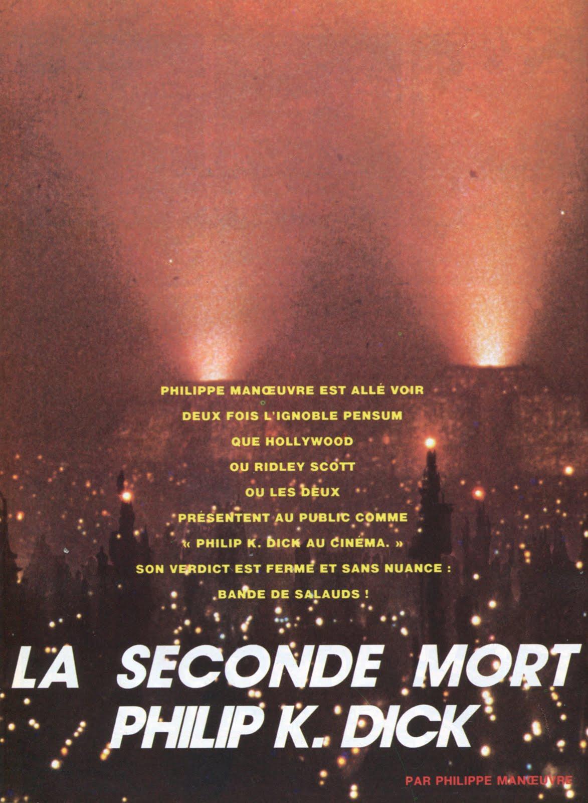 METAL HURLANT (Sept 1982) Blade Runner LA+SECONDE+MORT+PHILIP+K.+DICK+1