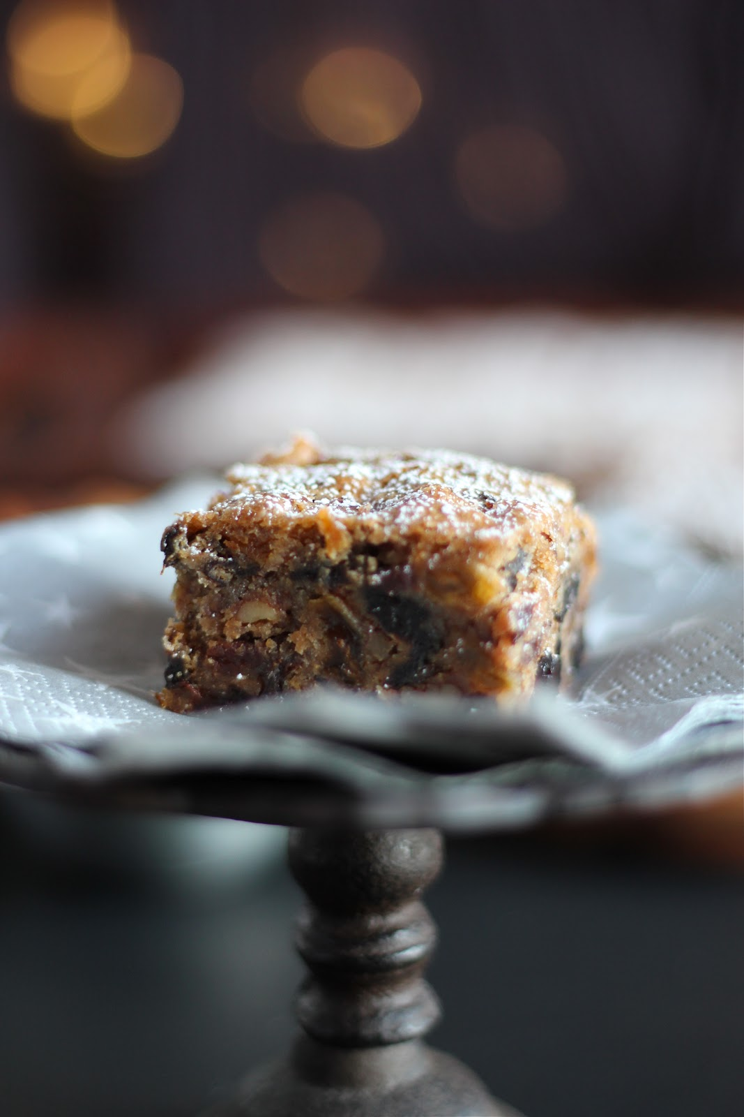 Arctic Garden Studio: Fruitcake Bars (Luscious Cherry Brandy Bars)