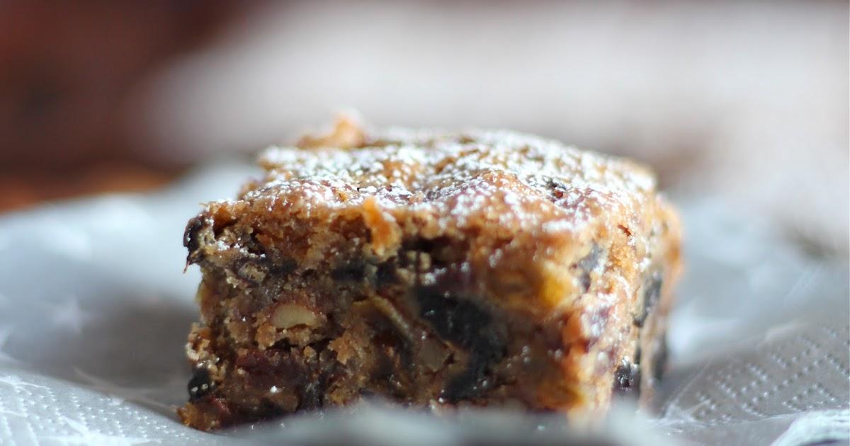 Arctic Garden Studio: Fruitcake Bars (Luscious Cherry Brandy Bars)