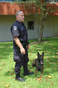 A K-9 officer from the Huntsville Police Department.