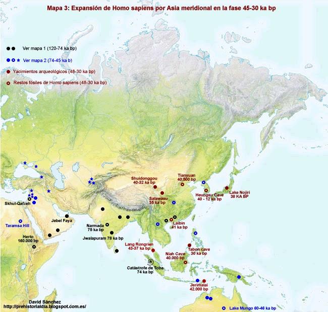 Paleoantropologa hoy Poblamiento del Sureste de Asia Australia