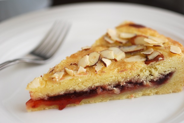 Almond Raspberry Shortbread Cake | Always Order Dessert