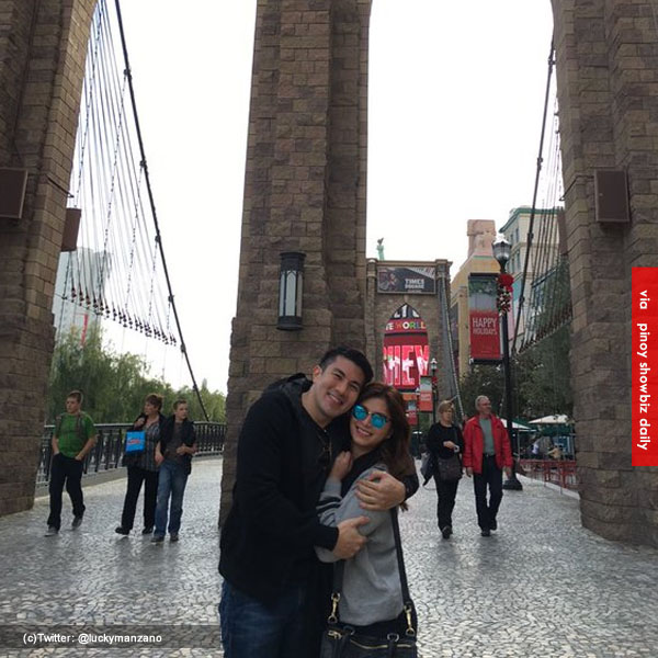Luis Manzano posts first photo with Angel Locsin in Las Vegas, USA