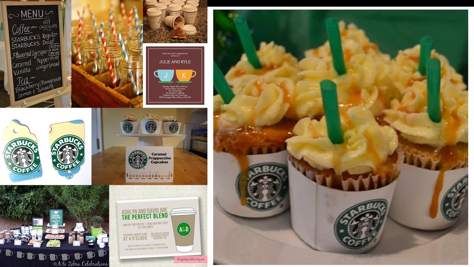 bridal shower theme starbuckscoffee inspired