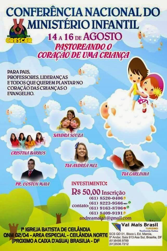14 a 16 de agosto em Brasília