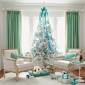 imagen de arbol de navidad celeste