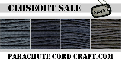 Closeout Paracord for sale at Parachute Cord Craft.com