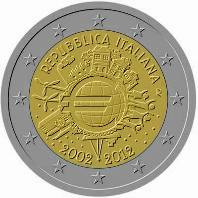 2 euro Italy 2012, Ten years of Euro cash