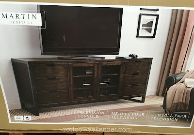 Martin Furniture Television Console – Hide all those cables with a clean look