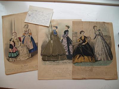Gamle modebilleder. 1850.