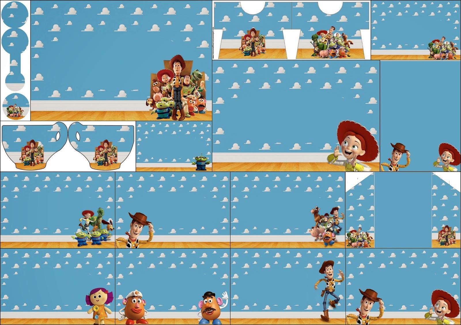Toy Story 3: Invitaciones  para imprimir Gratis.