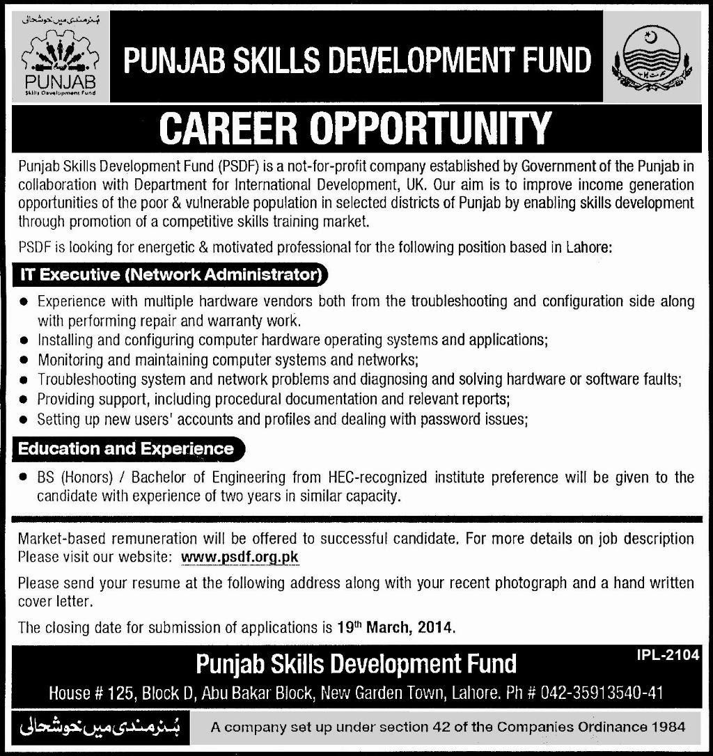 FIND JOBS IN PAKISTAN PUNJAB SKILLS DEVELOPMENT FUND JOBS IN PAKISTAN LATEST JOBS IN PAKISTAN