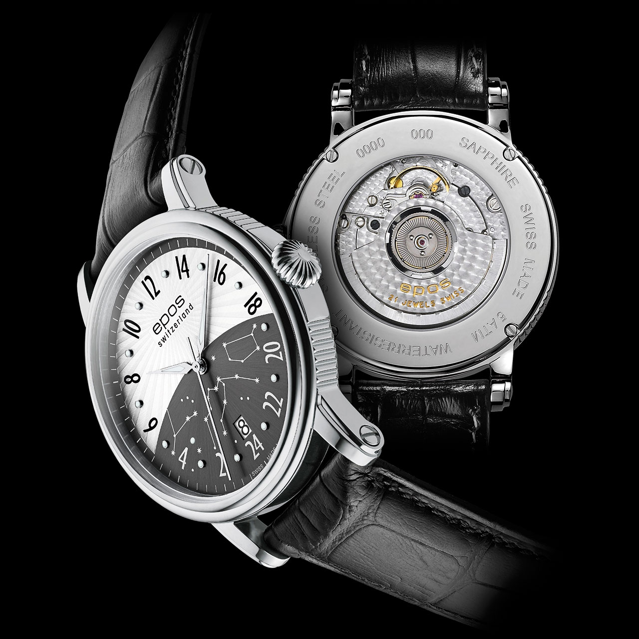 luxury cars and watches boxfox1 epos emotion 3390 24h mechanical automatic watch. Black Bedroom Furniture Sets. Home Design Ideas