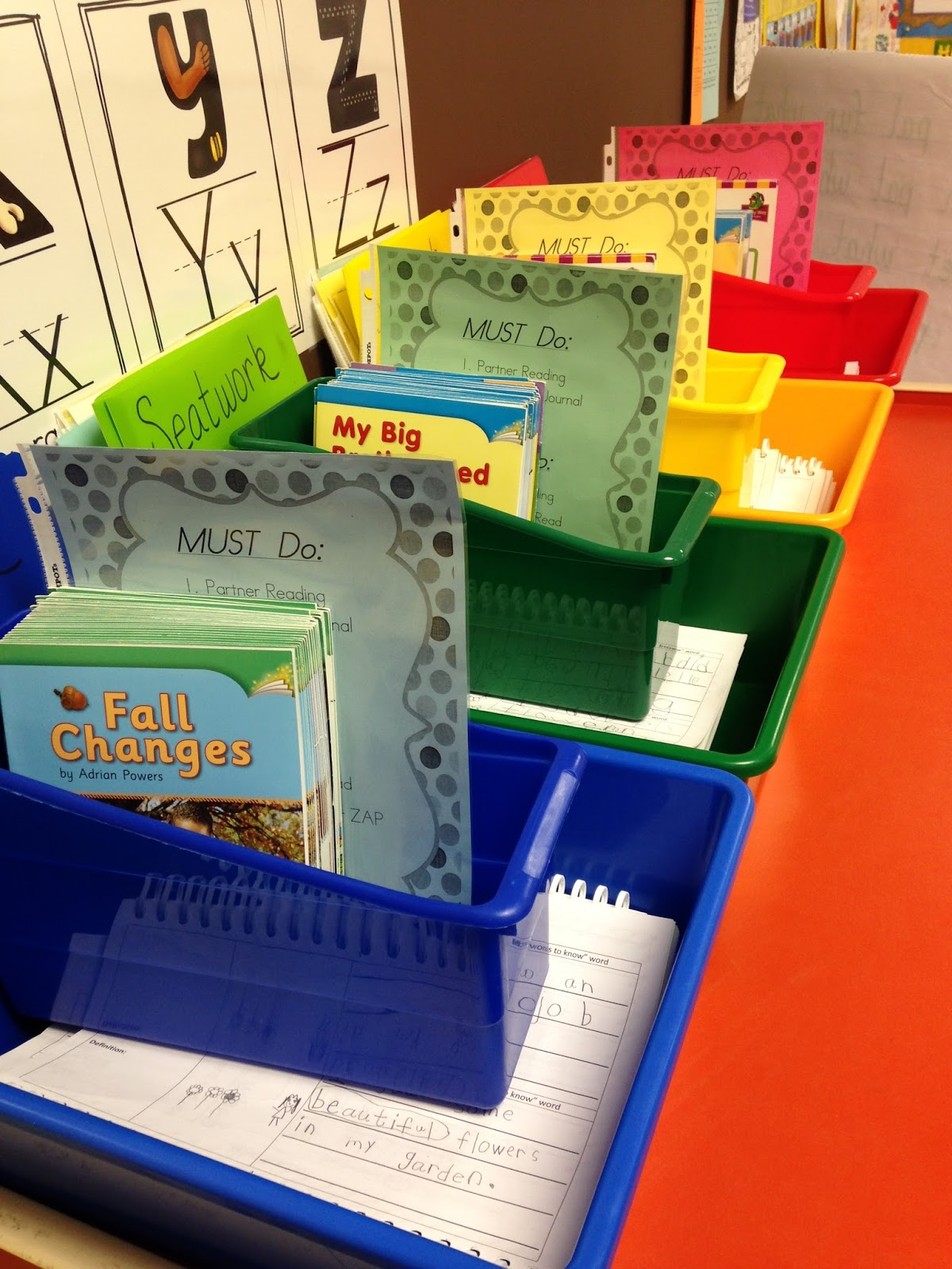 This is a picture of Decisive Printable Literacy Centers First Grade