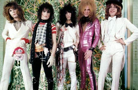 the ineffably glam New York Dolls